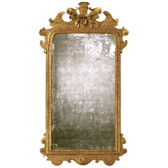 Early George I Period 18th Century Carved Gesso Mirror