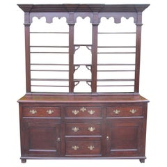 Early George III Oak Dresser of Superb Color and Proportions