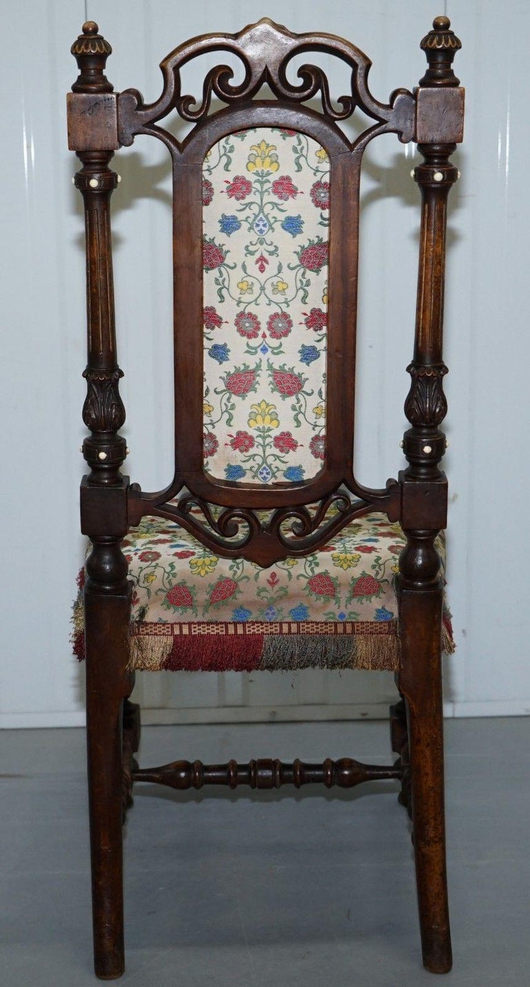 Early Georgian Single Chair Highly Carved and Detailing Walnut, circa 1800 For Sale 4