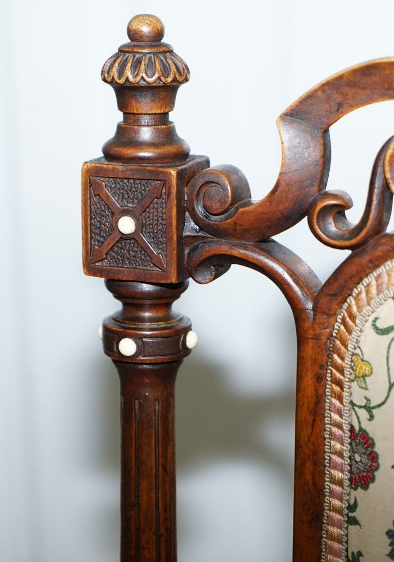 18th Century and Earlier Early Georgian Single Chair Highly Carved and Detailing Walnut, circa 1800 For Sale