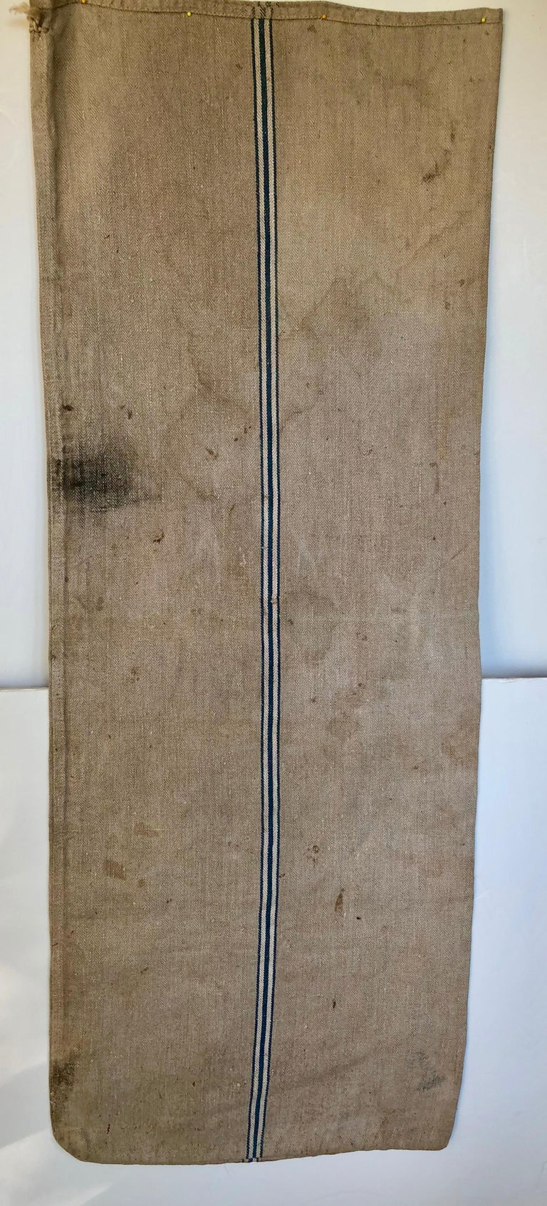Early German Handwoven Grain Sack with Original Calligraphy and Graphics For Sale 3