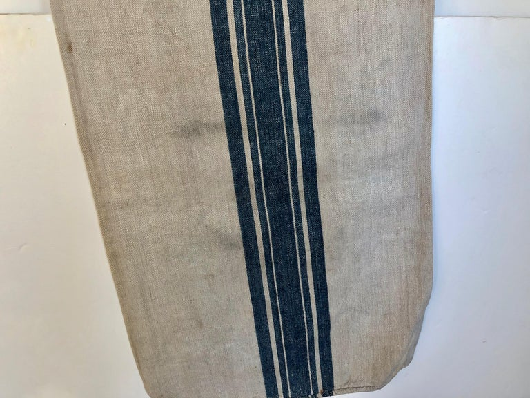Early German Handwoven Grain Sack with Original Calligraphy and Graphics, Horse For Sale 3