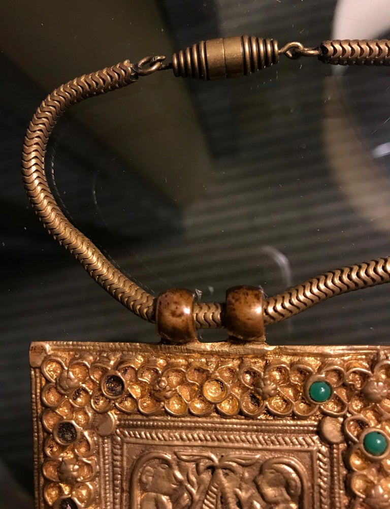 French Early Gilt Bronze Necklace by Line Vautrin For Sale