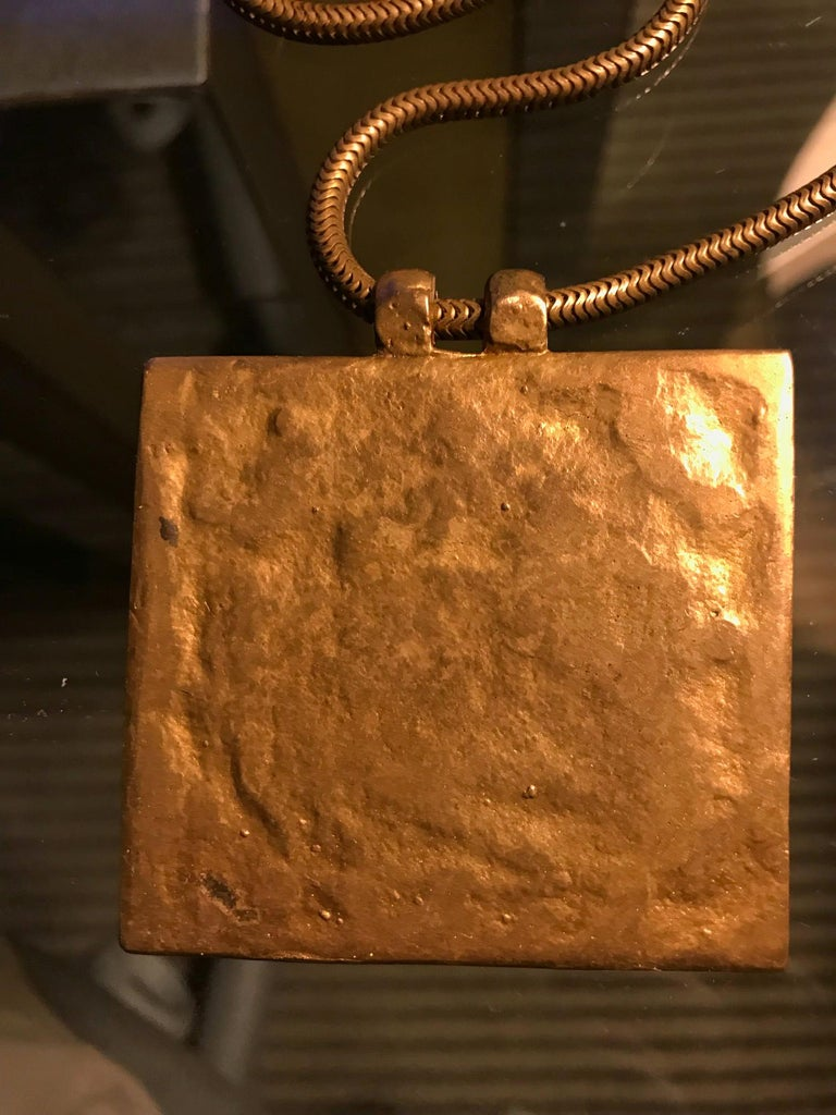 Early Gilt Bronze Necklace by Line Vautrin For Sale 1