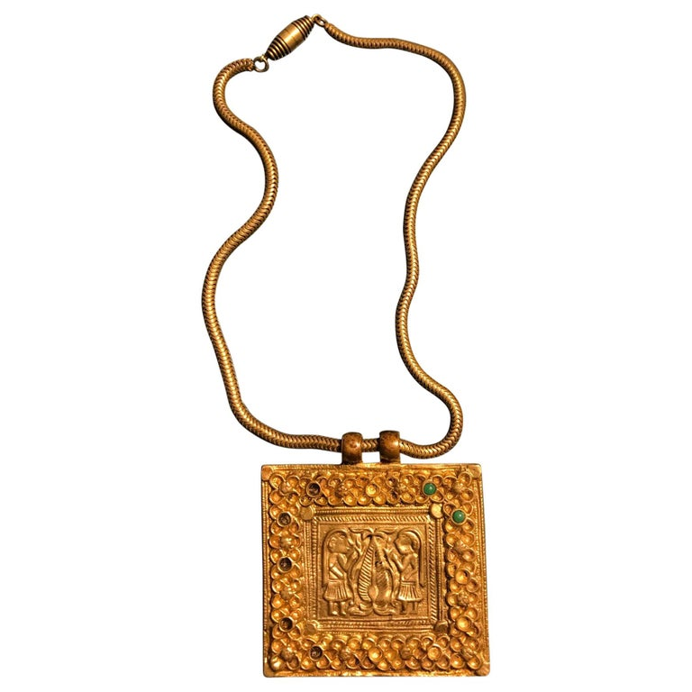 Early Gilt Bronze Necklace by Line Vautrin For Sale