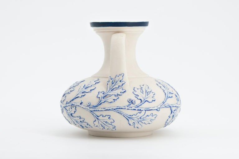 Rococo Revival Early Grainger Worcester Porcelain Blue and White Vase For Sale