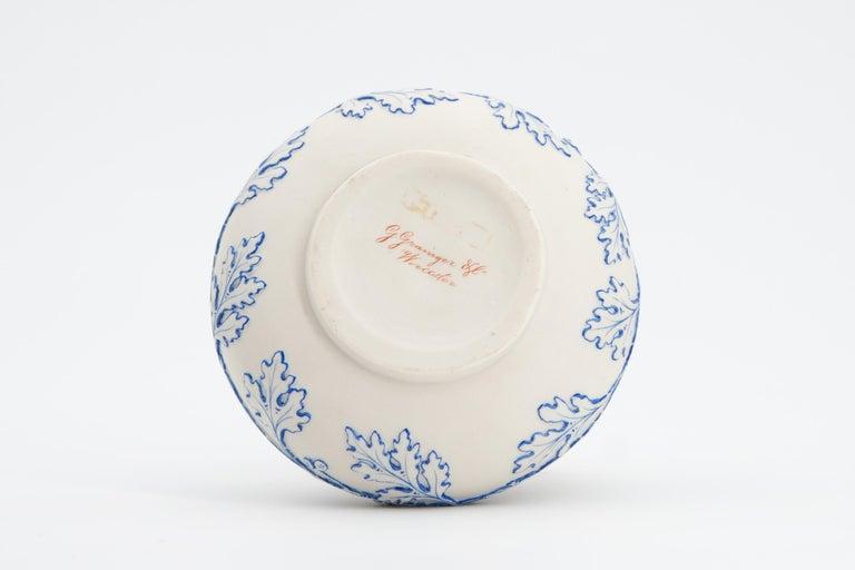 Early Grainger Worcester Porcelain Blue and White Vase For Sale 1