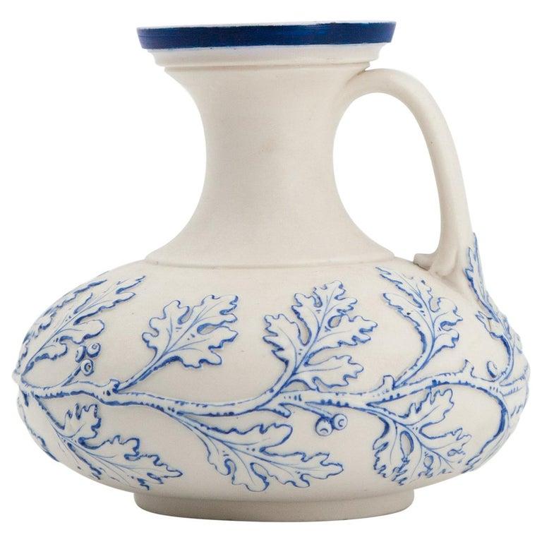 Early Grainger Worcester Porcelain Blue and White Vase For Sale