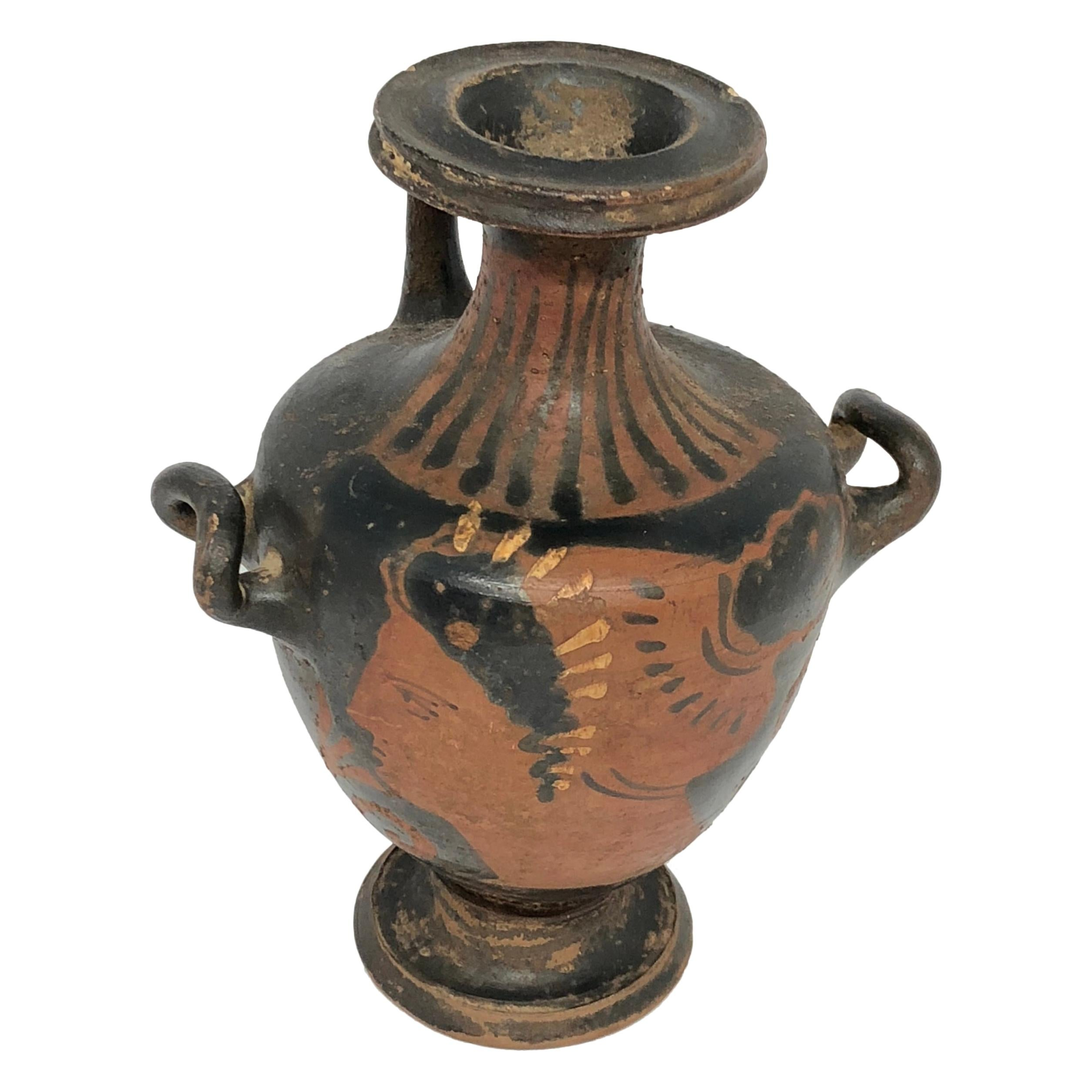 Early Greek Red Figured Hydra Pottery