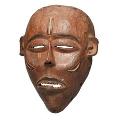 Early Hardwood Pende Dance Mask Early 20th Century DR Congo African Tribal Art