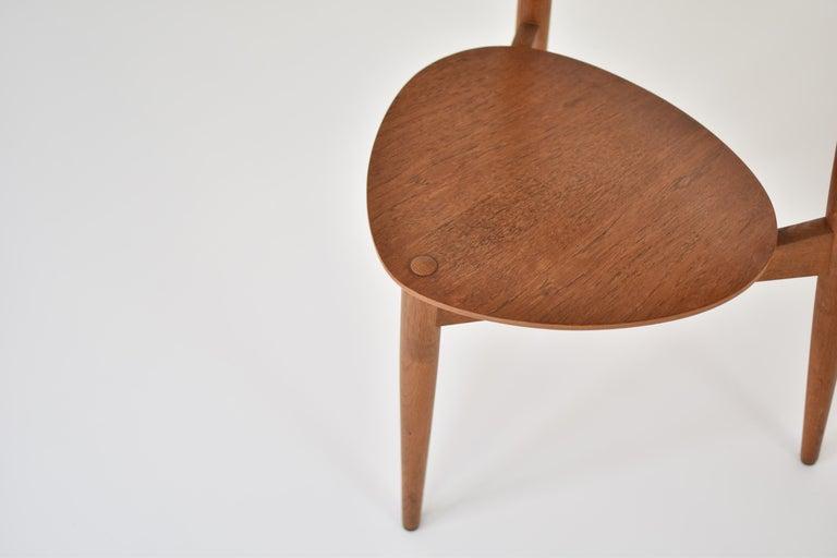 Danish Early 'Heart' Side Chair by Hans J. Wegner for Fritz Hansen, Denmark, 1952 For Sale