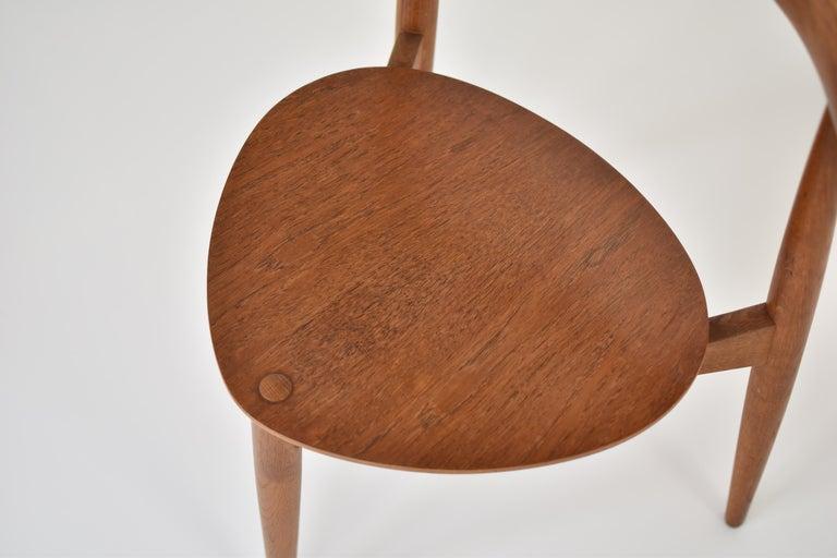 Mid-20th Century Early 'Heart' Side Chair by Hans J. Wegner for Fritz Hansen, Denmark, 1952 For Sale