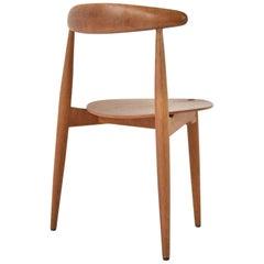 Early 'Heart' Side Chair by Hans J. Wegner for Fritz Hansen, Denmark, 1952