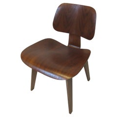 Early Herman Miller Sculptural Walnut DCW by Eames 'C'