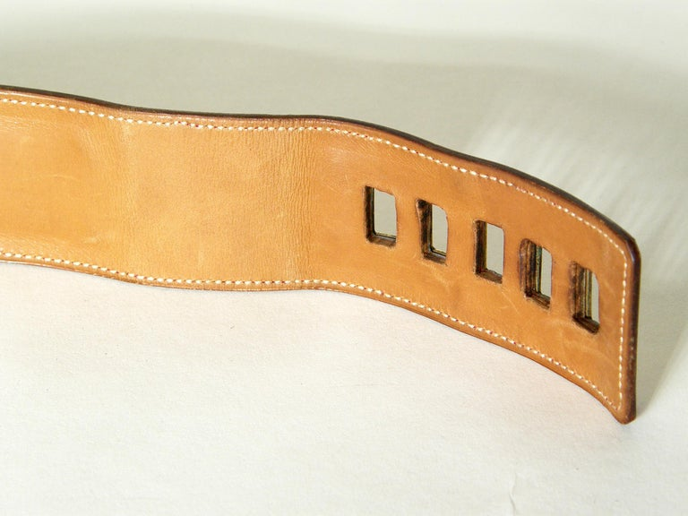Early Hermès Collier de Chien Belt Adjustable Red Leather CDC with Gold Hardware For Sale 6