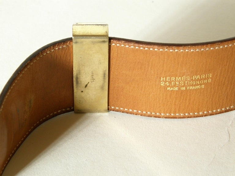 Early Hermès Collier de Chien Belt Adjustable Red Leather CDC with Gold Hardware For Sale 3