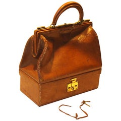 Early Hermes-Paris Sac Mallette Tan Great PROP