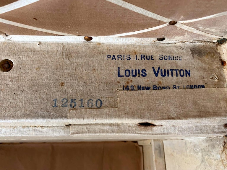 Early Historically Important Vintage Louis Vuitton Steamer Trunk For Sale 4