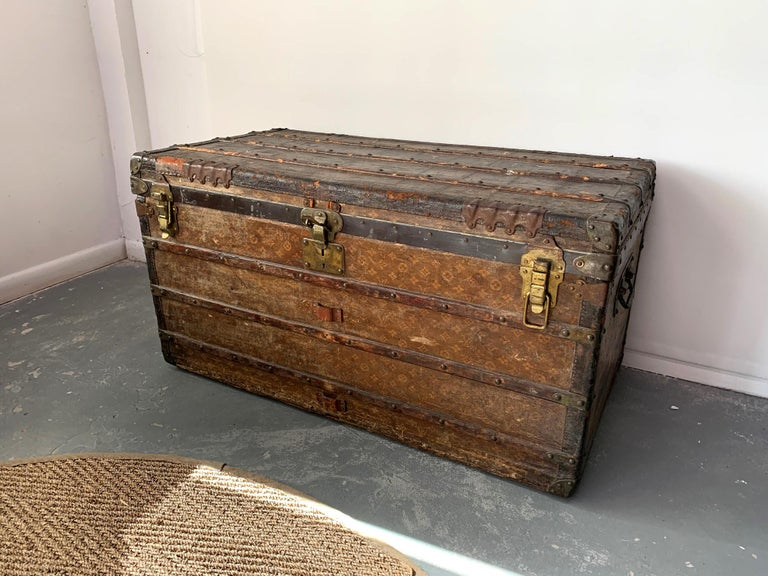 French Early Historically Important Vintage Louis Vuitton Steamer Trunk For Sale
