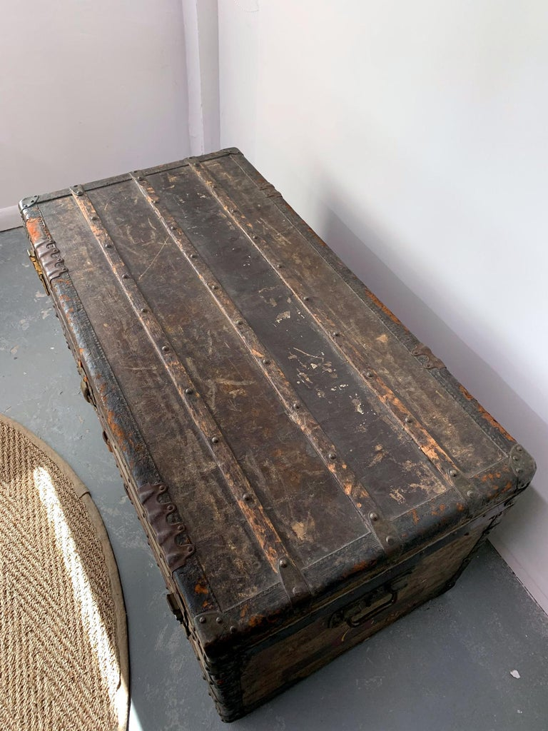 Early Historically Important Vintage Louis Vuitton Steamer Trunk For Sale 1