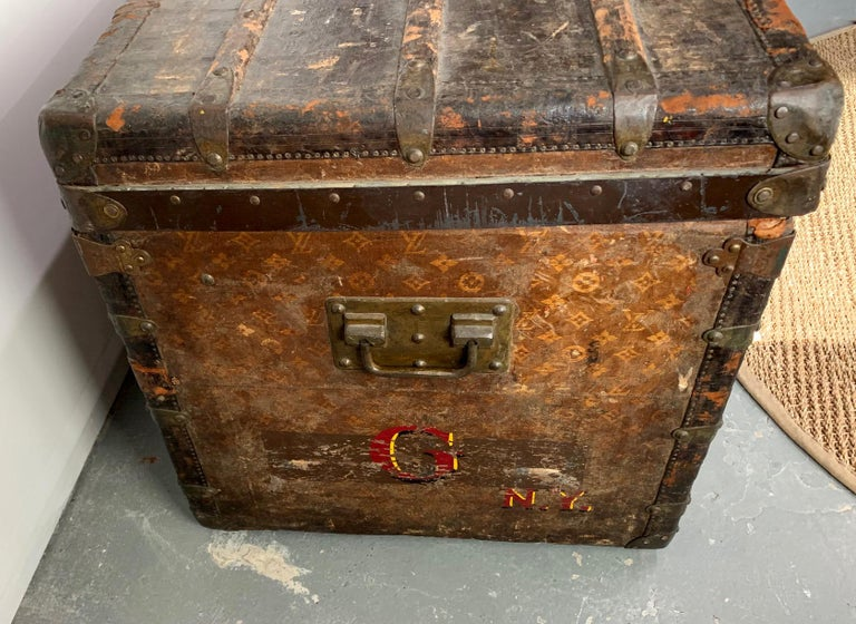 Early Historically Important Vintage Louis Vuitton Steamer Trunk For Sale 2