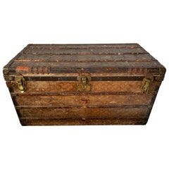 Early Historically Important Vintage Louis Vuitton Steamer Trunk