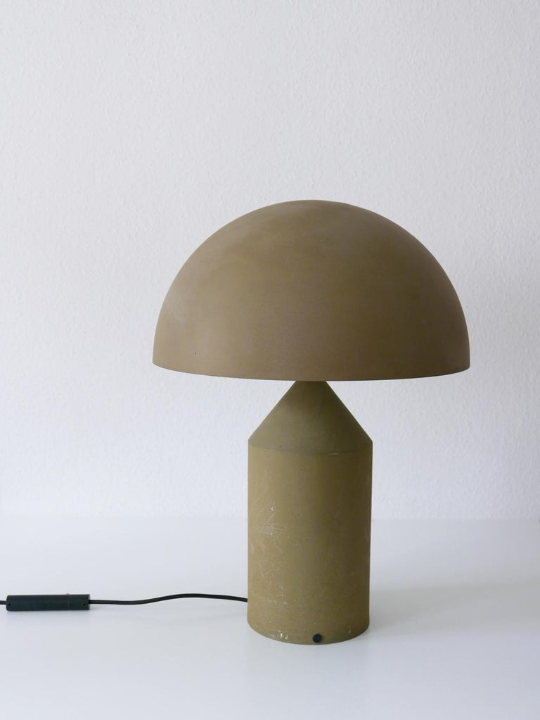 Early & Huge Atollo Table Lamp by Vico Magistretti for Oluce, Italy, 1977 For Sale 4