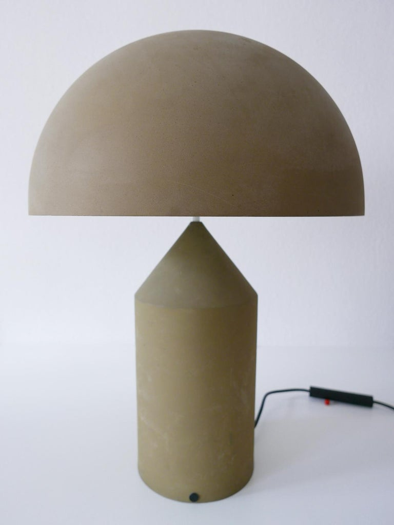 Early & Huge Atollo Table Lamp by Vico Magistretti for Oluce, Italy, 1977 For Sale 5