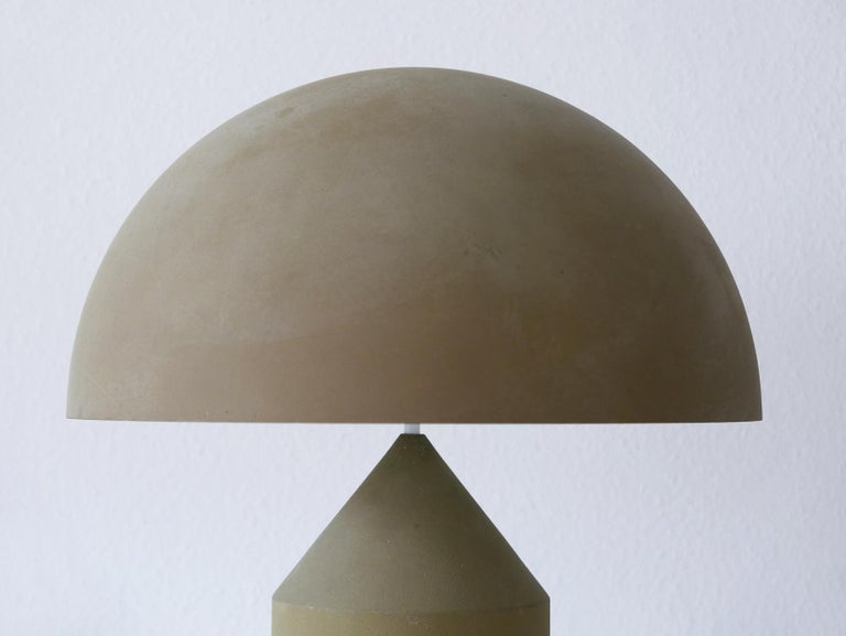 Early & Huge Atollo Table Lamp by Vico Magistretti for Oluce, Italy, 1977 For Sale 7