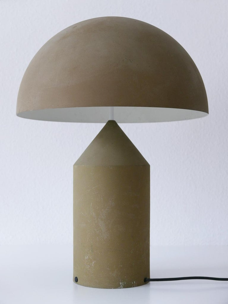 Mid-Century Modern Early & Huge Atollo Table Lamp by Vico Magistretti for Oluce, Italy, 1977 For Sale