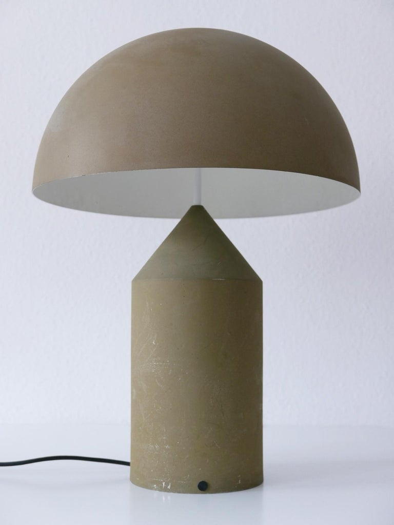 Italian Early & Huge Atollo Table Lamp by Vico Magistretti for Oluce, Italy, 1977 For Sale