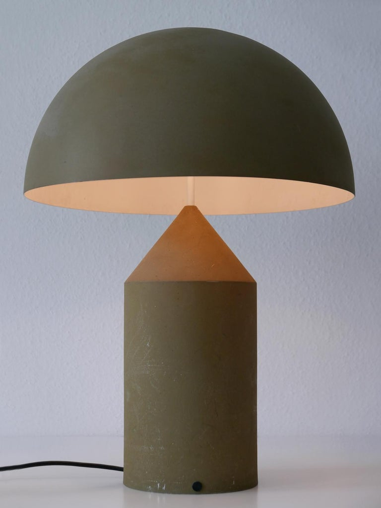 Spun Early & Huge Atollo Table Lamp by Vico Magistretti for Oluce, Italy, 1977 For Sale