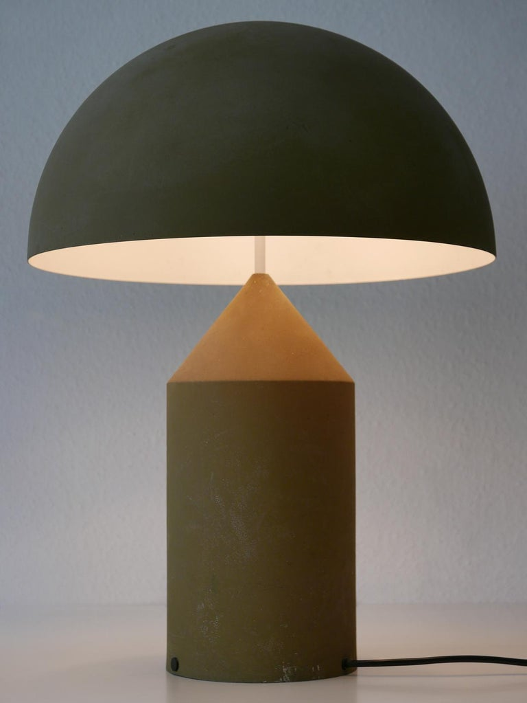 Late 20th Century Early & Huge Atollo Table Lamp by Vico Magistretti for Oluce, Italy, 1977 For Sale
