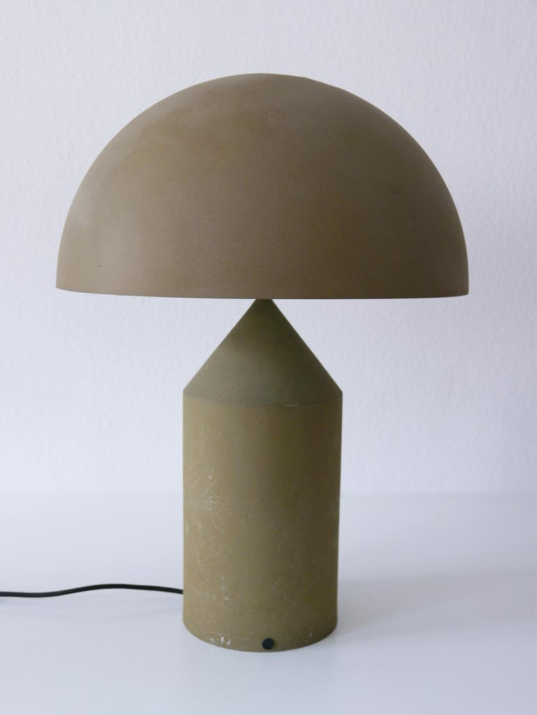 Aluminum Early & Huge Atollo Table Lamp by Vico Magistretti for Oluce, Italy, 1977 For Sale