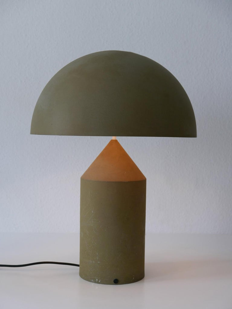 Early & Huge Atollo Table Lamp by Vico Magistretti for Oluce, Italy, 1977 For Sale 1