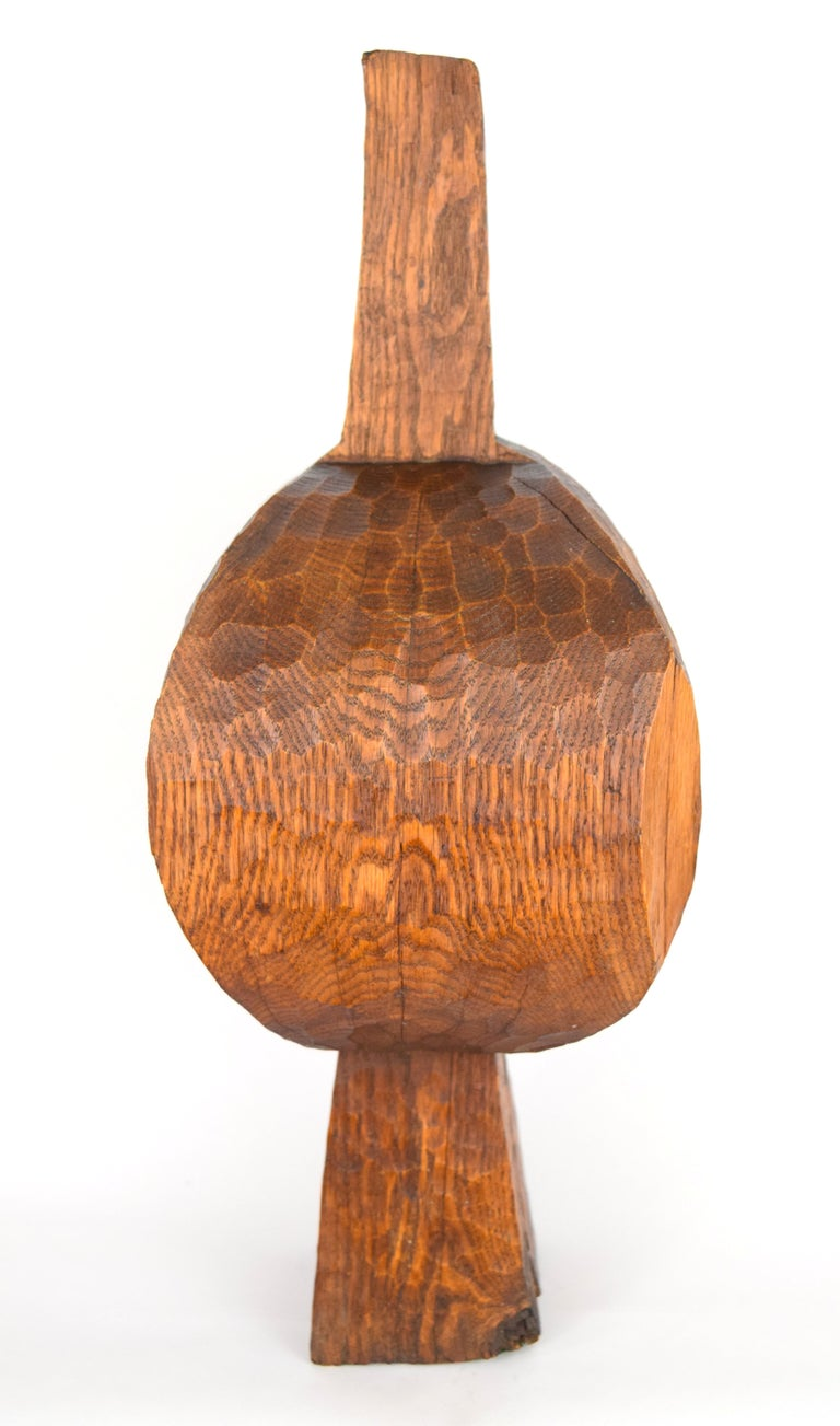 Organic Modern Early Hugh Townley Bulbous Wooden Sculpture, 1953 For Sale