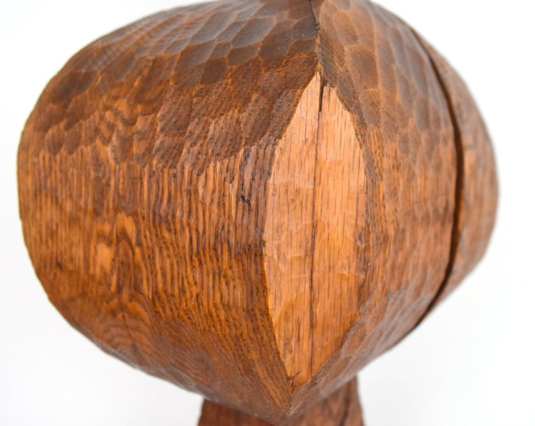 Hand-Carved Early Hugh Townley Bulbous Wooden Sculpture, 1953 For Sale