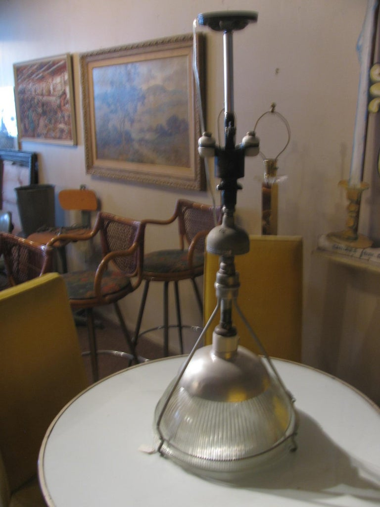 Early Industrial Original Holophane Pendant Lamp In Good Condition For Sale In Port Jervis, NY