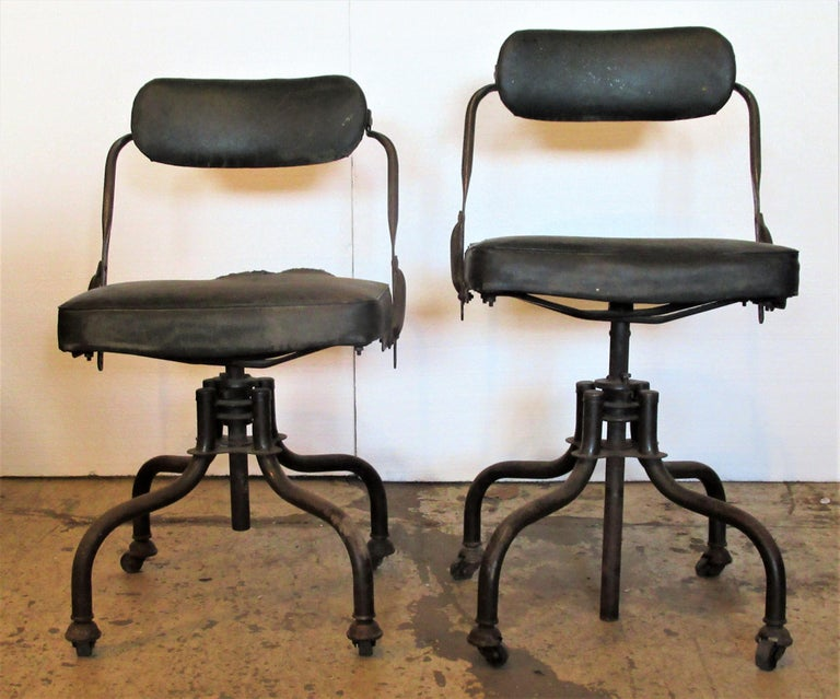 Early Industrial Task Chairs by Domore For Sale 8