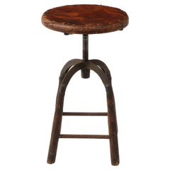 Early Industrial Work Stool, USA, 1940's
