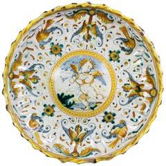 Early Italian Majolica Footed Bowl