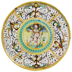 Early Italian Majolica Footed Tazza