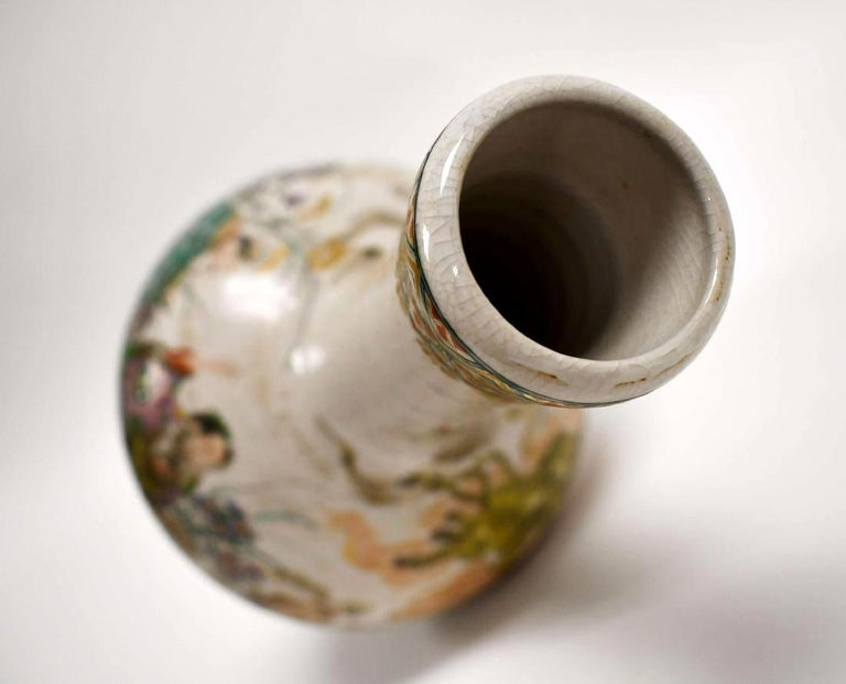 Early Japanese Satsuma Antique Vase For Sale 7