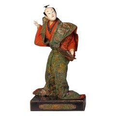 Early Japanese Takeda Ningyo of a Kabuki Actor in the Role of Kumagai Naozane