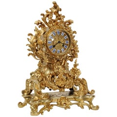 Early Japy Freres Antique French Ormolu Rococo Clock