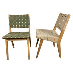 Early Jens Risom for Knoll Model 666 Webbed Side Chairs