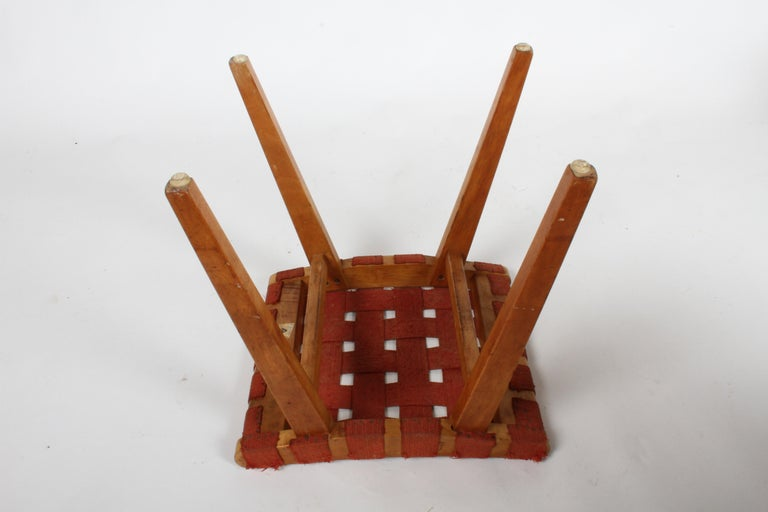 Early Jens Risom for Knoll Strap Stool For Sale 4
