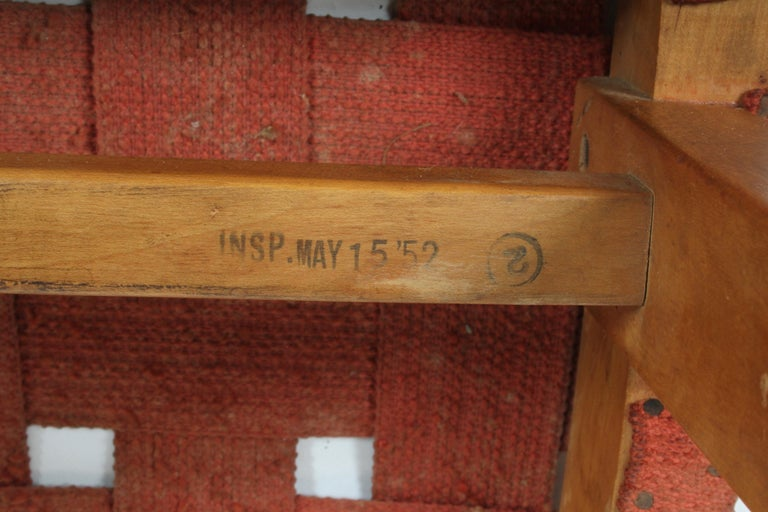 Early Jens Risom for Knoll Strap Stool For Sale 6