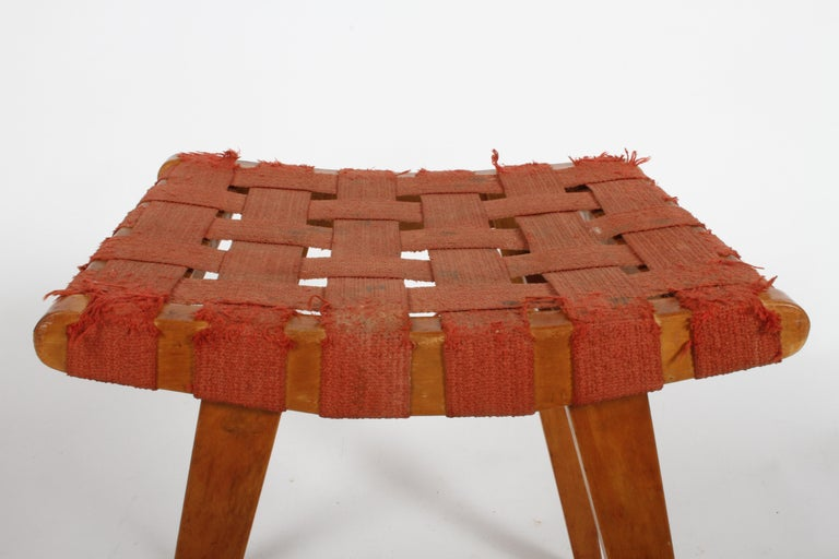 Early Jens Risom for Knoll Strap Stool For Sale 2