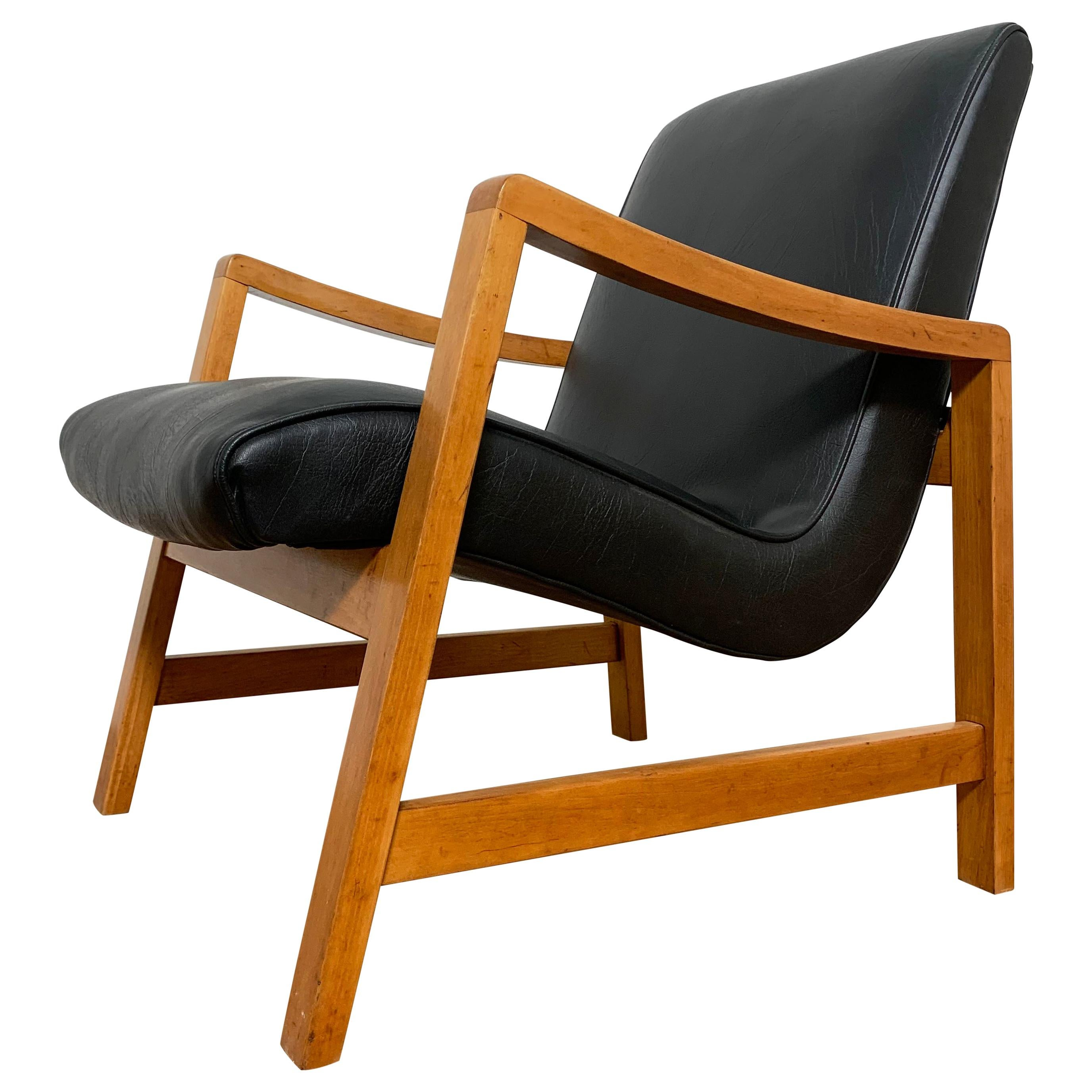 Early Jens Risom Lounge Chair for Knoll, Ca. 1950s